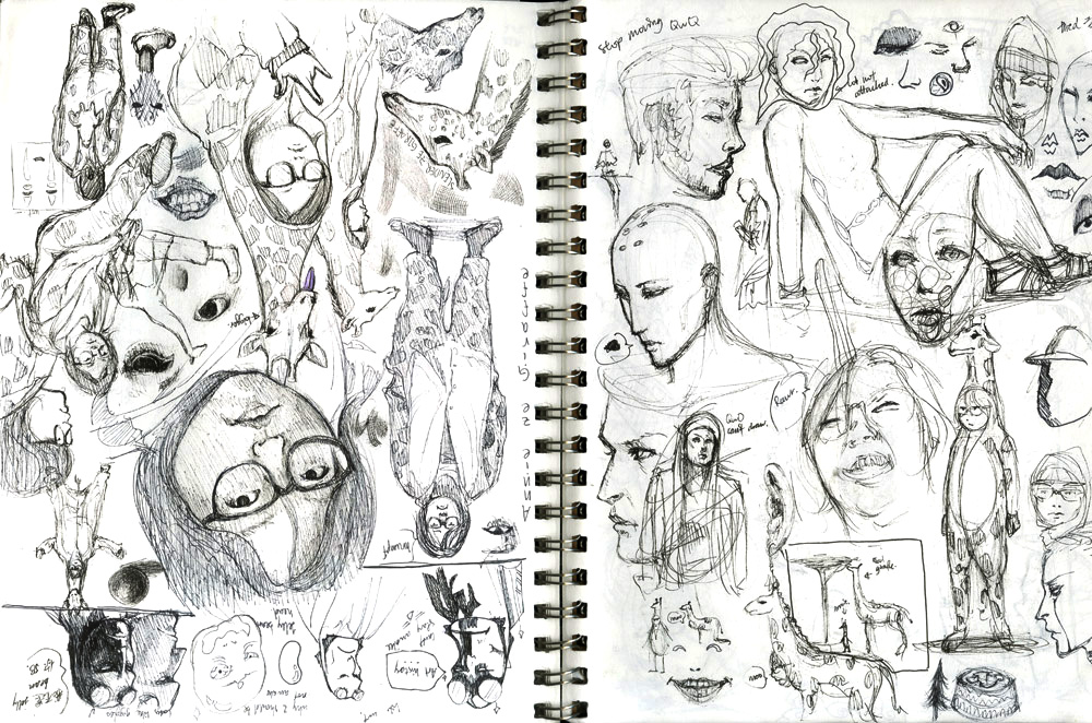 sketchbook pages 3,4