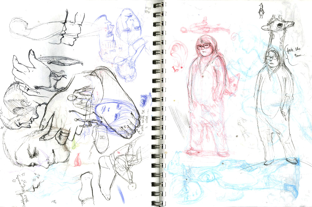 sketchbook pages 5,6